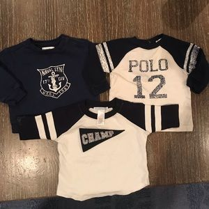 Ralph Lauren and Janie and Jack baby tops